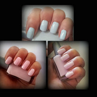 ARIA Pale Pastel Collect Set Pink Purple and Blue Indie Nail Polish Handmade Lacquer Custom