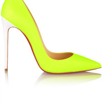 Christian Louboutin - So Kate 120 neon leather pumps