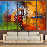 Oil Painting Digital Print - Abstract Art Canvas Print for Home or Office Decoration, Abstraction Wall Art Canvas