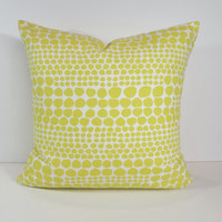 Nate Berkus Designer Pillow Cover, Yellow and White Dots Decorative Pillow Cushion, Accent Pillow,18 x 18, 16 x 16