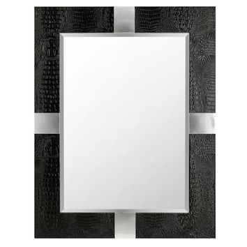 Dance Faux Leather Glam Accent Mirror