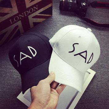 2017 SAD Boy Cotton Fit Dad Bone Hats Sunscreen Baseball Cap Sadboys Men Women Visor S