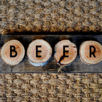 BEER // Inspirational Quote Wooden Sign