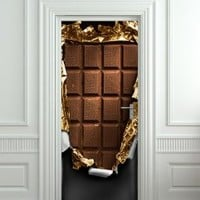 "Door Wall Fridge VINYL STICKER or not sticky PAPER chocolate bar poster 30x80""(77x203 cm) (Paper)"