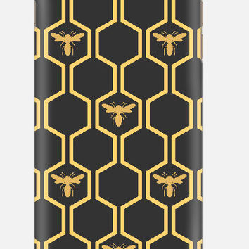 iPhone 6 Case, HoneyBee iPhone 5C Cell Case, Samsung Galaxy Bee Case, cellcasebythatsnancy
