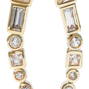Gold-tone crystal earrings | ELIZABETH AND JAMES | Sale up to 70% off | THE OUTNET