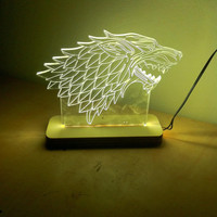 game of thrones night light house of stark