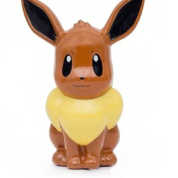 "Pokemon ""Evee"" Figural Ceramic Piggy Bank"