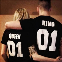 QUEEN KING T-Shirts For Men Women Tee +Free Gift -Random Necklace -82