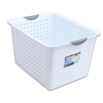 "Discounted Sterilite White Ultra 10"" Deep Basket - 12 Units"
