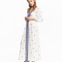 H&M Embroidered Maxi Dress $49.99