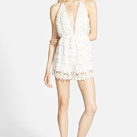 Women's Missguided Lace Halter Romper,
