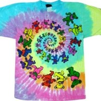 Greatful Dead Spiral Bear Tie Dye T-Shirt #19