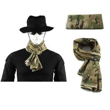 Multifunctional Army Mesh Breathable Scarf Tactical Military camouflage Scarf Wrap Mask Shemagh Veil For Airsoft hunting Hiking
