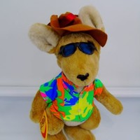 "Kangaroo Surfer Ron Jon Surf Shop Australia Korky Plush Stuffed Animal 16"" Aussi"