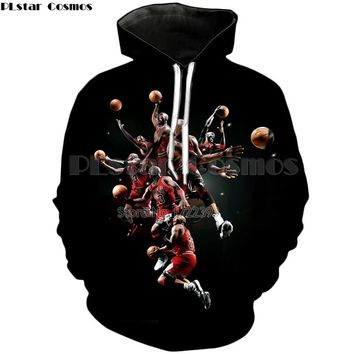 PLstar Cosmos Fashion 3d Pullovers Jordan Print Hoodies Men's Sweatshirts Loose Hoodies Hoody Autumn Winter Tracksuit Harajuku 1