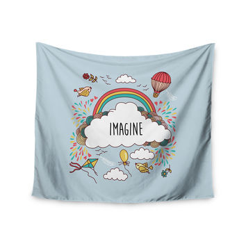 "KESS Original ""Imagine"" Fantasy Illustration Wall Tapestry"