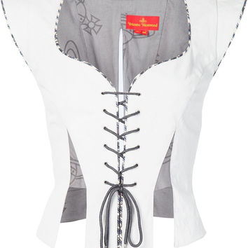 Lace Up Corset in White