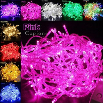 EU/US Plug 220V/110V 9colors 10M 100 LED String Fairy Lights Wedding Xmas Party Decoration [8833993228]