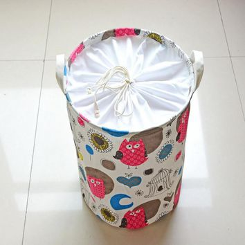 Small Bird Sunflower Storage Baskets/Bags Finishing Floor Snack Basket Laundry Bucket for Dirty Clothes Kids Toys Books