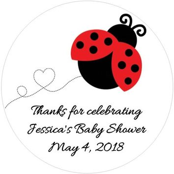 Ladybug Baby Shower Favor Tags