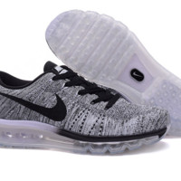 """NIKE"" The new trend of men and women running shoes sneakers knitting High Quality"