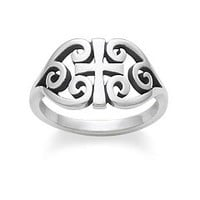 Scroll Cross Ring