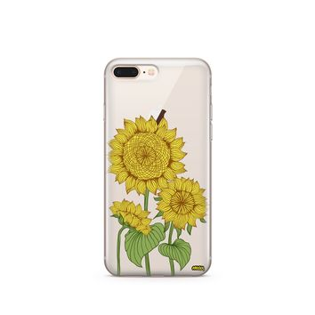 Sunny Sunflower - Clear TPU Case Cover