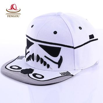 Fashion  Brand Star Wars Snapback Caps Cool Strapback Letter Baseball Cap Bboy Hip-hop Hats For Men Women fitted hats