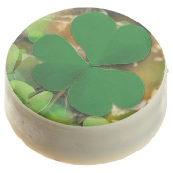 St Patrick's Day Themed 3 Leaf Clover Chocolate Dipped Oreo