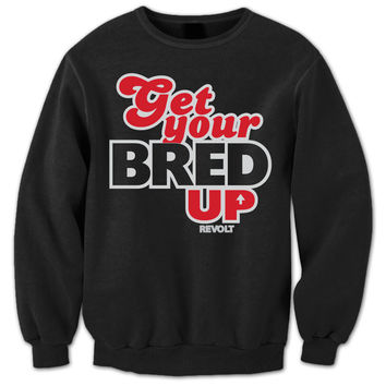 Revolt Apparel Bred Up Bred 13's Black Crewneck