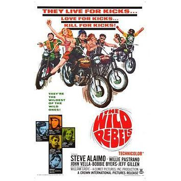 Wild Rebels The Movie poster Metal Sign Wall Art 8in x 12in