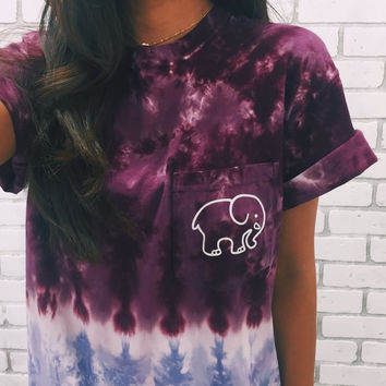 Tie-Dye Ombre Classic Print Short Sleeve