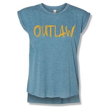 Sassy Frass Outlaw High Low Bright Girlie T Shirt