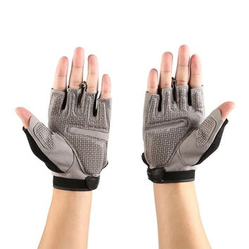 Aolikes Durable Shock Resistant Breathable Gloves Mesh Fabric Training Sports Gym Fitness Hand Wearing Glove  Wrist Buckle