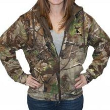 Zipper Hoodie - Realtree APG Camo with Tan Logo (W)