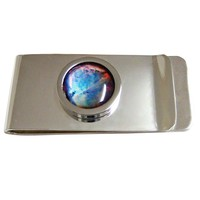 Bordered Nebula Cloud Money Clip