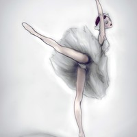 The Ballerina 8inx11in Art Print