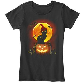 Happy Halloween Cat T Shirt