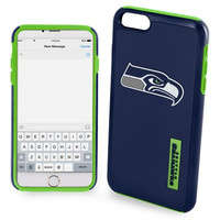 Seattle Seahawks Impact Dual Hybrid AI6 Cover for iPhone 6 Plus Official NFL TPU 2-PIECE
