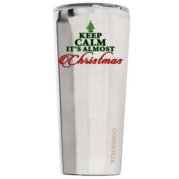 Corkcicle Keep Calm Its Almost Christmas 24 oz Tumbler Cup