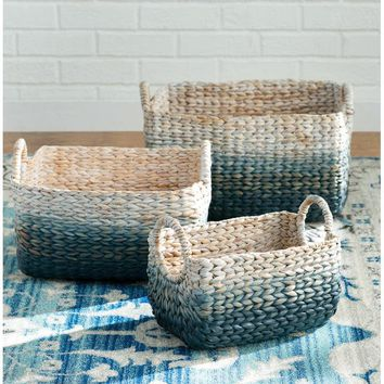 Woven Water Hyacinth Basket (Set of 3)