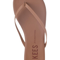 Tkees Foundations Flip Flop Coco Butter Leather SIZE 9