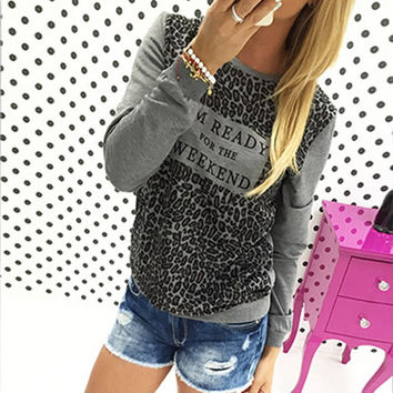 Leopard Loose Long Sleeve T-Shirt