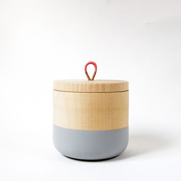 Petite Wooden Canister, Mother's Day Collection