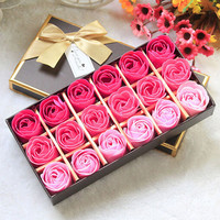 18Pcs Body Bath Soap Rose Petal Whitening Soap Wedding Decoration Party Gift