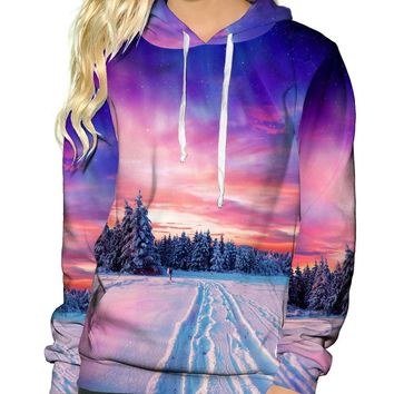 Snow Tracks Pullover Hoodie