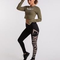Gymshark Burnout Leggings - Black/Light Grey