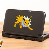 Jolteon pokemon decal sticker for Nintendo 3DS XL, 3DS, iPad, iPhone, MacBook and all other devices! ma014