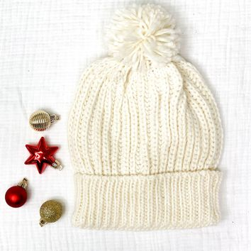 Top This Off Beanie-Off White